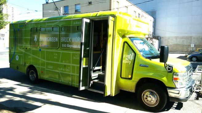 Evergreen Brick Works shuttle bus